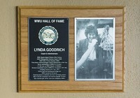Hall of Fame Plaque: Lynda Goodrich, Administrator and Coach, Class of 1999