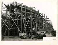 Ship under construction at Northwestern Shipyard, Bellingham, Washington