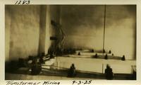 Lower Baker River dam construction 1925-09-03 Transformer Wiring