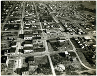Aerial view of residential streets of Fairhaven district, Bellingham, WA