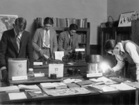 1926 Seventh Grade Boys Demonstrating Electrical Inventions