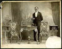 An unidentified man, likely a magician