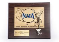 Basketball (Men's) Plaque: NAIA District 1 Champions, 1987/1988