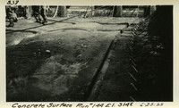 Lower Baker River dam construction 1925-06-25 Concrete Surface Run #144 El.3145