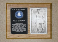 Hall of Fame Plaque: Walt Schilary, Track and Field (Sprints), Class of 1979