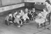 1942 Third Grade Reading Time With Miss Bayley (Class 3-A)
