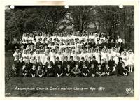 Assumption Church confirmation class, April 1939