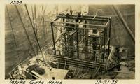 Lower Baker River dam construction 1925-10-21 Intake Gate House