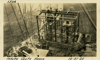 Lower Baker River dam construction 1925-10-21 Intake Gate House