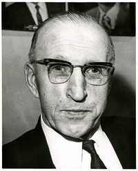 Enlarged head and shoulders photograph of George D. Zahn, Washington State Highway Commission Chairman