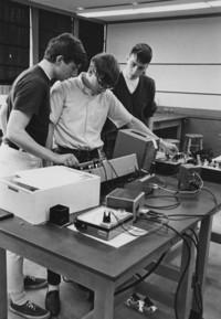 1968 Bond Hall: Physics Students