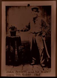 John Bennett and his heather from Mt. Beaker