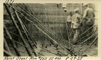 Lower Baker River dam construction 1925-08-29 Reinf Steel Run #203 El.414