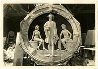 Clay model used for plaster pattern ultimately on Everett High School Auditorium