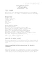 WWU Board of Trustees Minutes: 2017-09-08