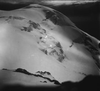 View of the upper part of Adam's Glacier and northwest side of Mount Adams.