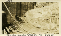 Lower Baker River dam construction 1925-09-24 Rock Surface Run #220 El.310