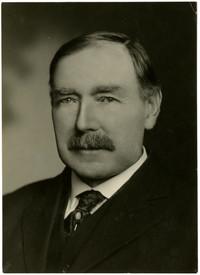 Studio portrait of M.E. Hanson