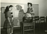1947 June McLeod With Students