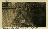 Lower Baker River dam construction 1925-07-25 Mucking East Side Dam Site