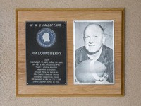 Hall of Fame Plaque: Jim Lounsberry, Coach, Class of 1983
