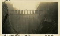 Lower Baker River dam construction 1925-10-21 Upstream Face of Dam
