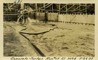 Lower Baker River dam construction 1925-05-26 Concrete Surface Run #115 El 309.8