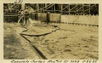 Lower Baker River dam construction 1925-05-26 Concrete Surface Run #115 El 309.8