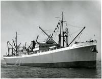 """Pacific American Fisheries' large steamship """"Clevedon"""" in Bellingham Bay"""