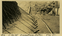 Lower Baker River dam construction 1925-03-30 Downstream Section Elev 190.