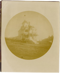 Exterior from wide lawn of the large Victorian-style Roland G. Gamwell House at 1001 16th Street, Bellingham, WA