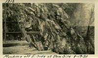 Lower Baker River dam construction 1925-08-19 Mucking Off E. Side of Dam Site