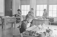 1943 Campus School First Graders At Work