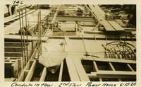 Lower Baker River dam construction 1925-06-15 Conduits in Floor 2nd Floor Power House