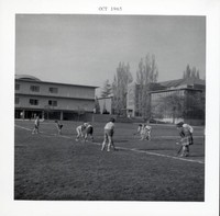 1965 Girls Doing Field Hockey Drills
