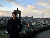 Luke in Edinburgh, Scotland