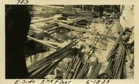 Lower Baker River dam construction 1925-06-18 E. Side 2nd Floor