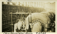 Lower Baker River dam construction 1925-09-27 Main Generator Room