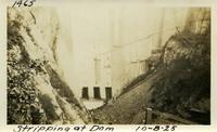Lower Baker River dam construction 1925-10-08 Stripping at Dam