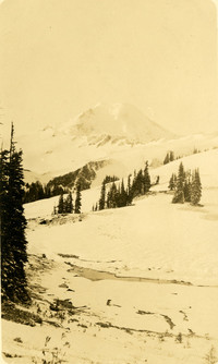 Snow pack and Mt. Baker
