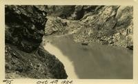Lower Baker River dam construction 1924-10-04 View of river