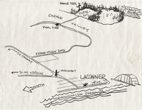 Map of La Conner and Fishtown