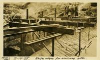Lower Baker River dam construction 1925-02-14 Knife Edges for Sluiceway Gates