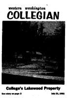 Western Washington Collegian - 1961 July 21
