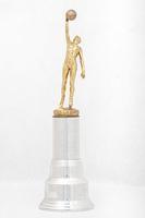 Basketball (Men's) Trophy: Inspirational Award (front), 1947/1956
