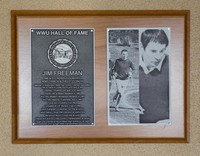 Hall of Fame Plaque: Jim Freeman, Cross-Country Running, Track and Field, Alumnus, Class of 2012