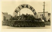 Kiwanis float from Whatcom County Tulip Festival parade, 1923