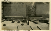 Lower Baker River dam construction 1925-08-17 Protection Wall