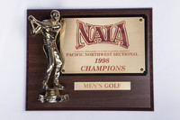 Golf (Men's) Plaque: NAIA Pacific Northwest Sectional Champions, 1998