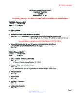 WWU Board of Trustees Packet: 2017-02-10